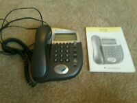 Corded telephone with answer machine and caller display