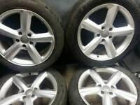 20 inch 5x130 genuine Audi Q7 alloy wheels.
