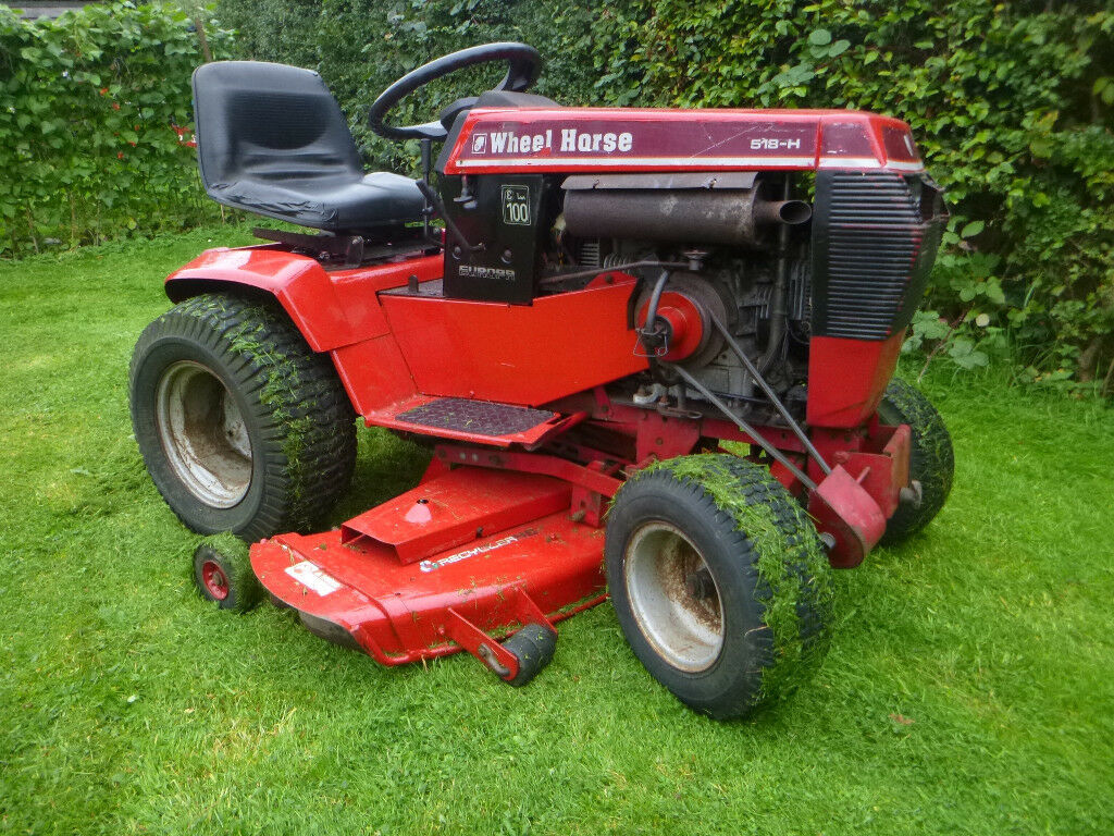 Garden Tractor Without Mower Deck : Wheel horse h ride on mower compact garden tractor