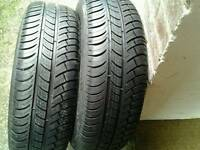 New matching pair mitchelin tyres