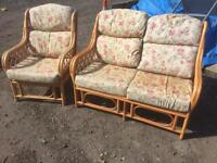 Conservatory furniture sofa and armchair. Can deliver.
