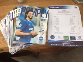Season 17/18 Portsmouth Football Programmes x 16