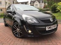 *12 MTHS WARRANTY*ONLY 13,000 MILES*2012(62)VAUXHALL CORSA 1.4 TURBO BLACK EDITION 3DR (START/STOP*