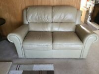 QUALITY 2 SEATER SOFA IN BEIGE LEATHER