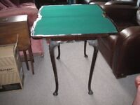 Antique fold out card table