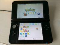 Nintendo 3DS XL with Pokemon Sun, Charger, Case & other games