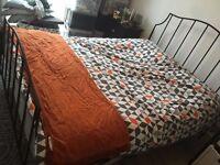 John Lewis black metal double bed