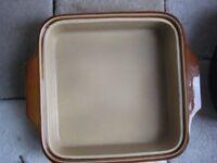 Square T G Green Stoneware Oven Dish