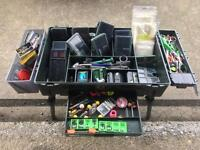 Tackle box fully loaded.