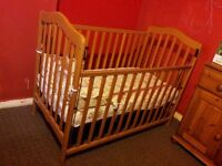 Mamas & Papas Baby Cot with New Mattress and Bedding