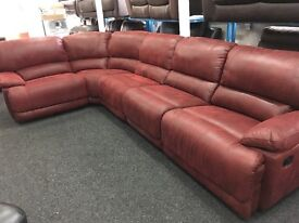 Ex DISPLAY/ NEW LazBoy Large Corner Recliners Sofa LEFT OR RIGHT SIDE CORNER