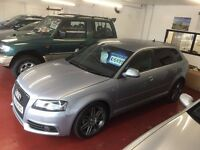 AUDI A3 S LINE BLACK ADDITION SPORTS PACK 12 MONTHS MOT