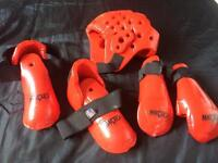 Macho head set of protectors guard boxing mma