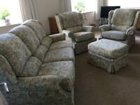 G Plan Three Piece Suite and Footstool