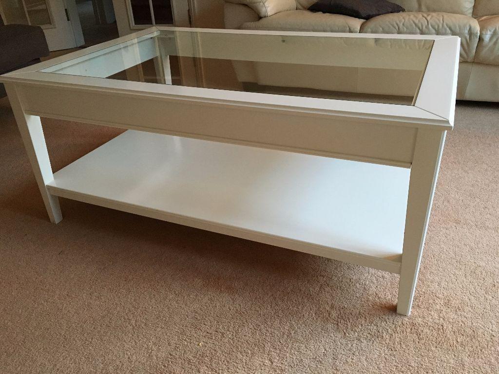 Credenza Ikea Liatorp : Ikea liatorp coffee table white glass in bishops stortford