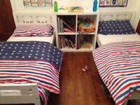 2 x White Ikea Toddler Kritters Beds with Mattresses