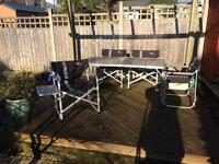 4 Quest Traveller Chairs and Coleman Foldable Table