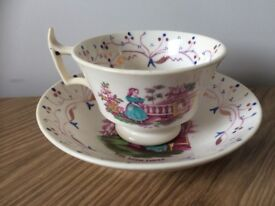 Vintage Queen Victoria Royal Family Cup & Saucer - The Royal Family READ LISTING THOROUGHLY!