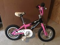 Girls 12 inch Bicycle, Specialized Hot Rock with detatchable training wheels