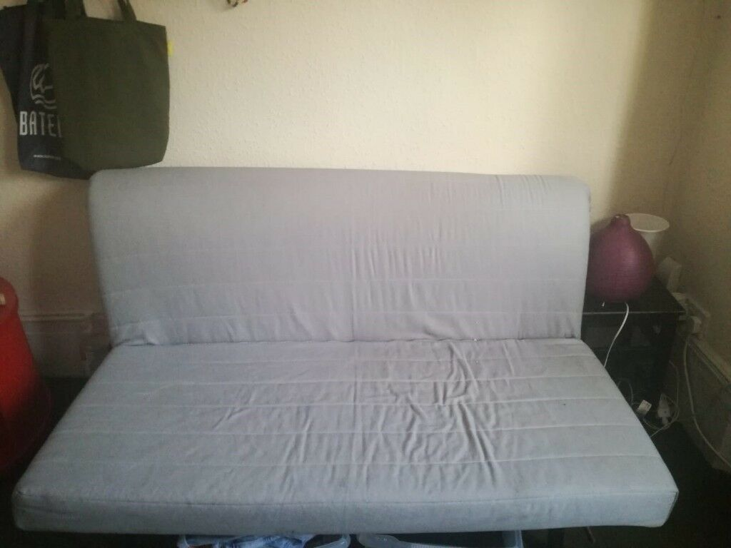 Grey Ikea Futon Sofa Bed With Wheels