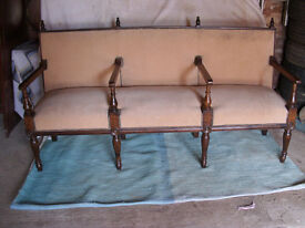 Victorian Hall/ Reception Triple Bench Seat