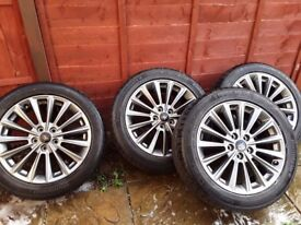 """Ford focus st line grey alloys 17"""" x 4 with tyres as new,immaculate condition"""
