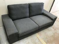 FREE DELIVERY IKEA KIVIK CHARCOAL GREY 2 SEATER SOFA GOOD CONDITION