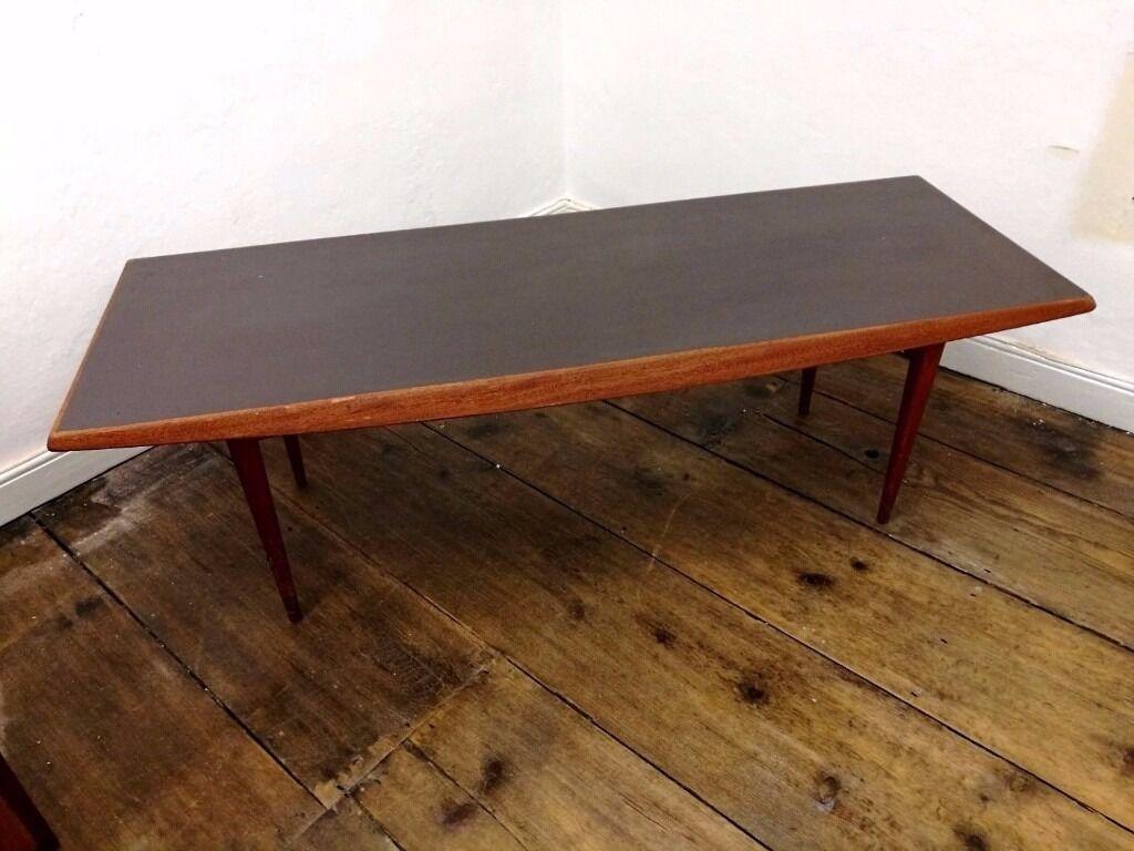 Gordon Russell Coffee Table Vintage Mid Century 1960s Teak Wooden Gordon Russell Rectangular