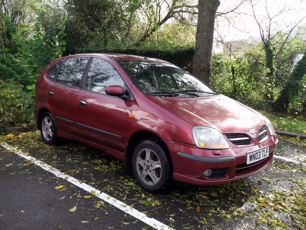 bargain nissan almera tino 2003 red in lyme regis. Black Bedroom Furniture Sets. Home Design Ideas