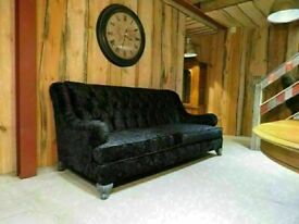 Oversized American Lounge Sofa (Newly Recovered)