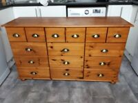 Solid pine mariners chest of drawers