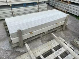 New - Smooth Reinforced Concrete Fencing Base Panels / Gravel Boards - 6Ft x 6@