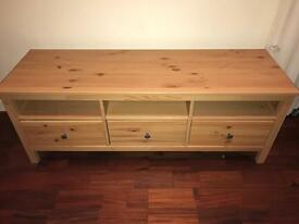 Wooden TV stand with 3 drawers