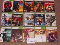 XBOX 360 GAMES £1 EACH