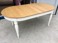 Bentley Designs Hampstead Ivory & Oak 6 Seater Dining Table - Ex Display