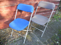 FIVE FOLD AWAY CHAIRS
