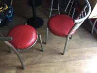 Dining table and chairs takeaway restaurant