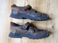 Kid's Boys Shoes Hush Puppies Size 10 Leather Galaxy Brown Sandal