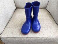 Clark's Child's Blue Wellington Boots