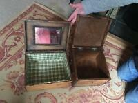 2 lovely rustic storage boxes