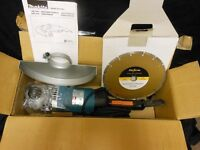Makita 9' Angle Grinder with Diamond Stone Cutting Disc