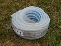 19mm PVC BRAIDED HOSE FOOD SAFE 50m ROLL UNUSED POND DRAINAGE FISH