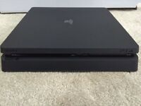 PS4 Slim Console With Controller Leads
