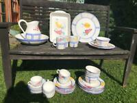 Cottage style crockery set