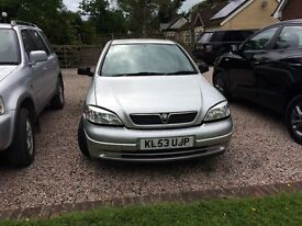 Silver Vauxhall Astra ideal for first car or local running about