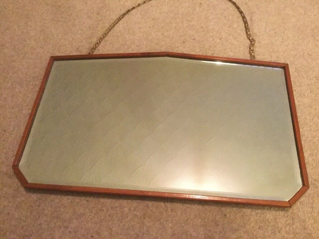 Large Rectangular Mirror With Heavy Duty Chain