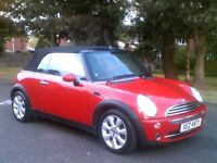**GLEAMING RED 2006 MINI COOPER CONVERTIBLE**MOTD APRIL 2018**TWO LADY OWNERS**PEUGEOT,RENAULT