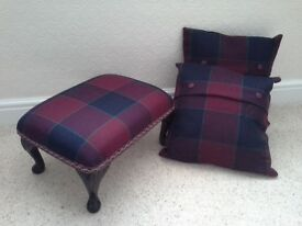 Foot stool and cushions to match