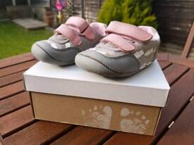 Clarks baby first shoes size 3.5