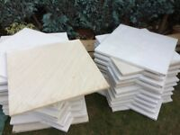 34 smooth mint fossil slabs 0.600x0.600